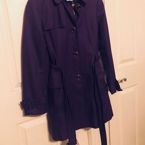 Banana Republic Royal Purple Trench Coat